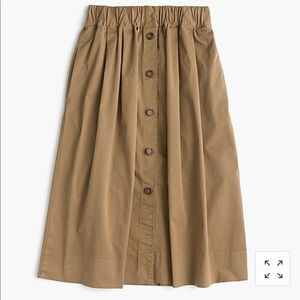 J.Crew Chino button skirt